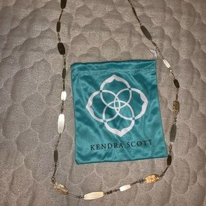 Gold Kendra Scott Claret Necklace